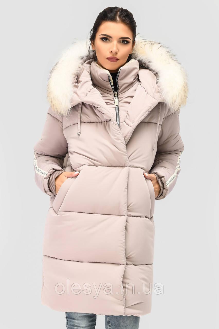 Куртка-парка женская зимняя LS-8805-25, (Пудра)