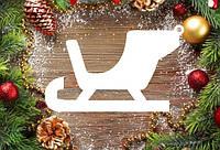 """Новогодний декор, резная игрушка """"Сани"""" из пенопласта, 20*4 см, 30*4 см, 40*4 см"""