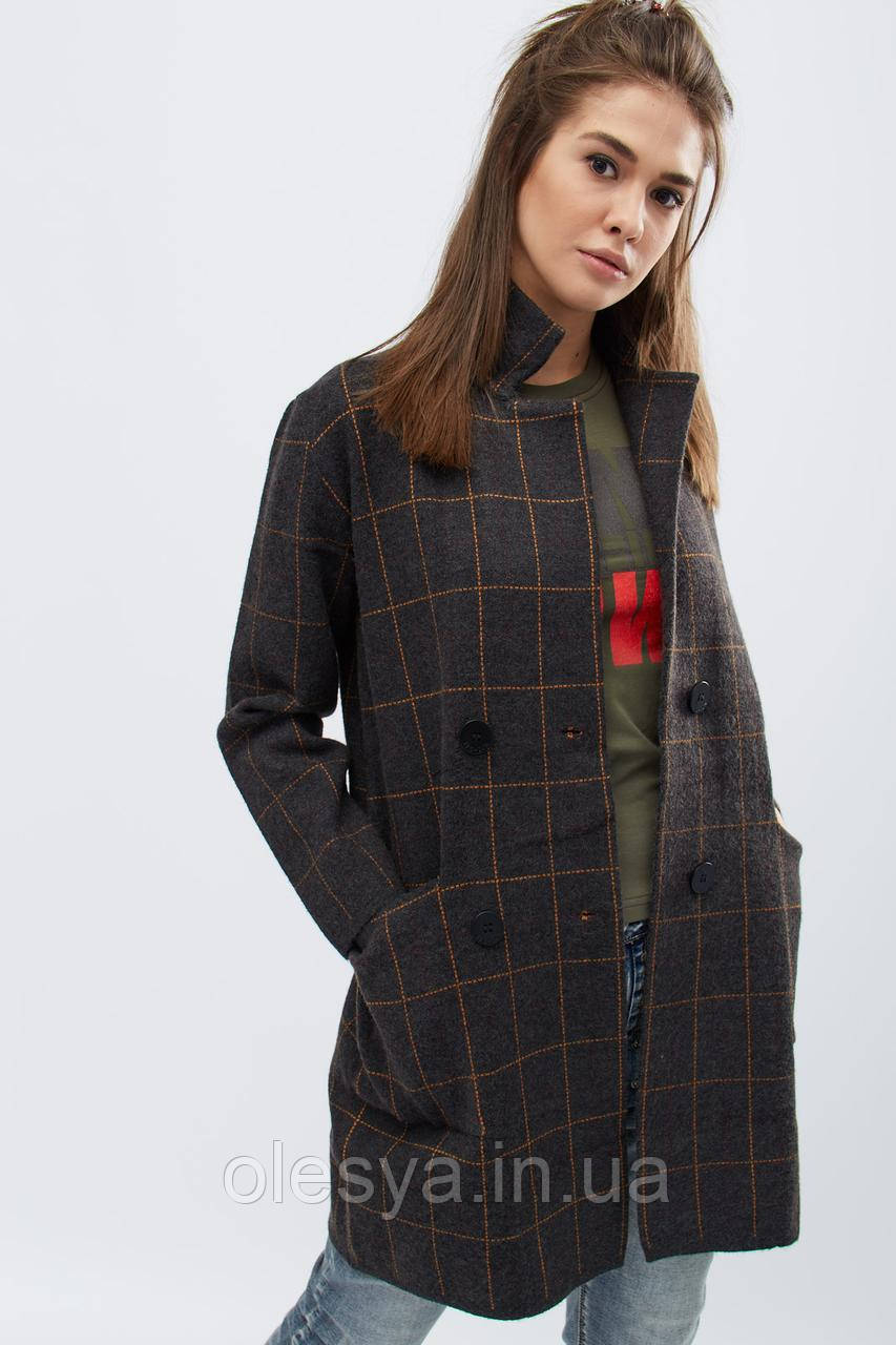Пальто  женское демисезонное тм x-woyz Цвет Графит, размер 42-46