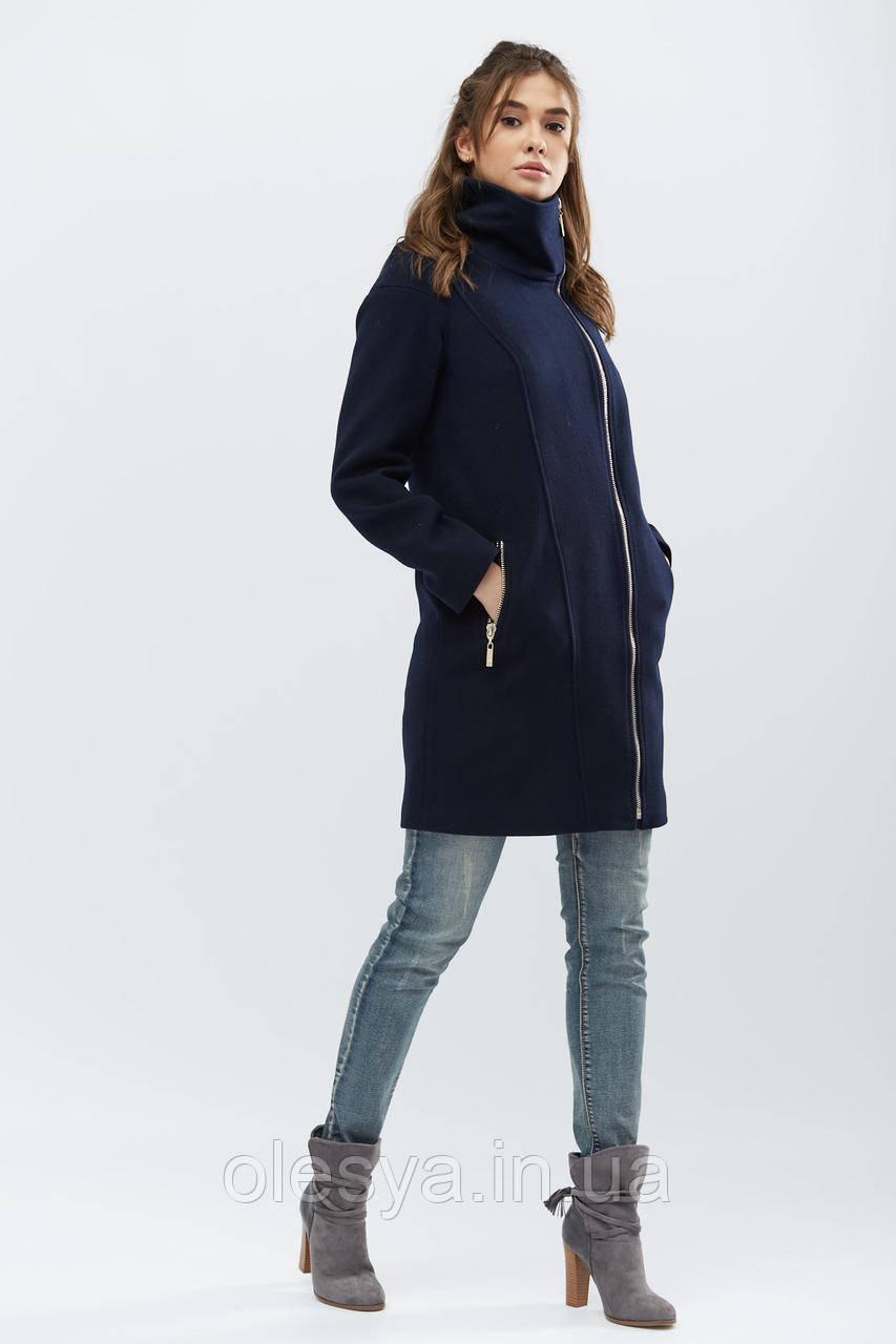 Пальто PL-8660-2, (Темно-синий)