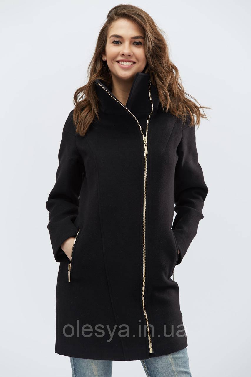 Пальто женское демисезонное x-woyz Цвет Черный, размер 42
