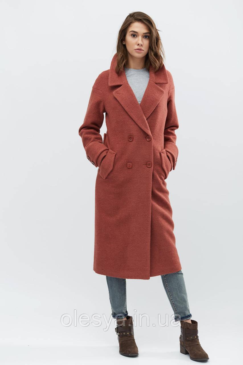 Пальто женское тм x-woyz, Цвет Тициан, размер 48