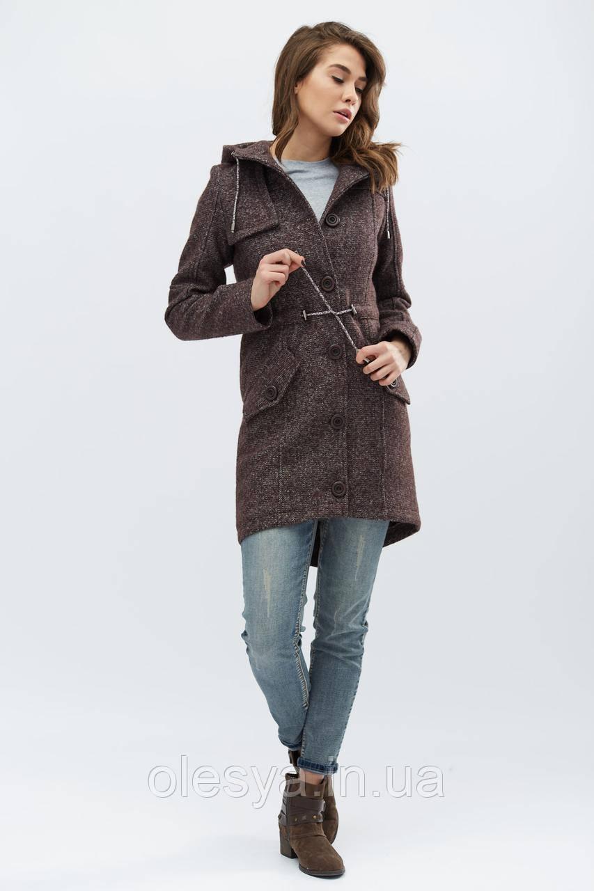 Пальто PL-8671-26, (Шоколад)