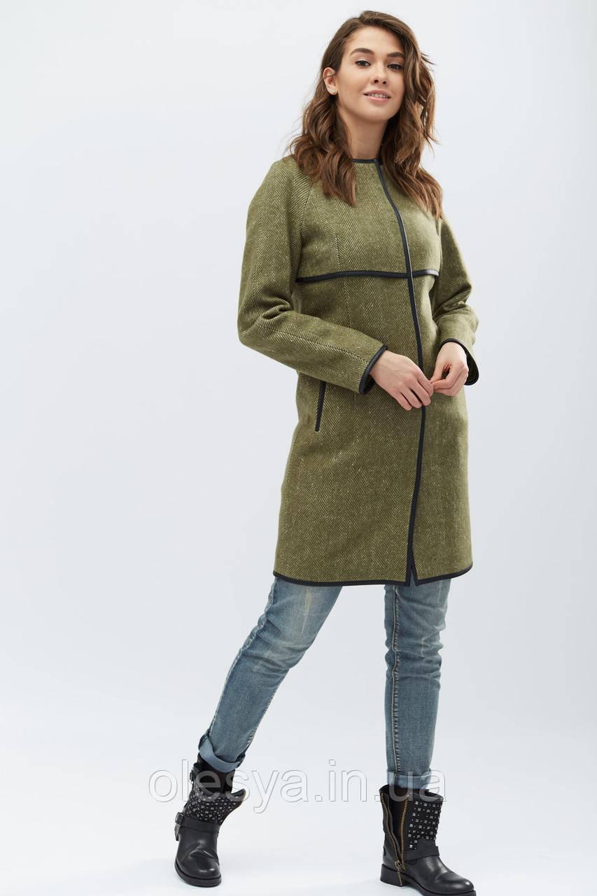 Пальто PL-8724-32, (Оливковый)