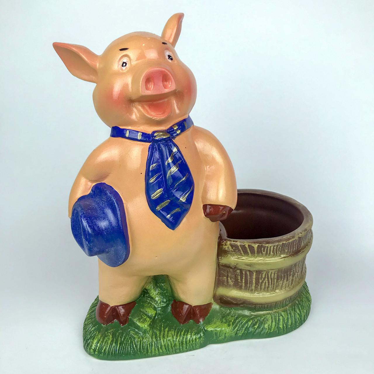 Свинка с корзинкой H-27см