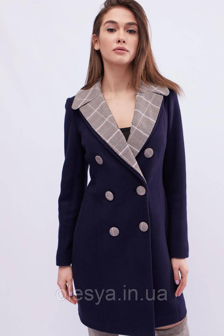 Пальто женское x-woyz цвет Синий размеры 42- 48