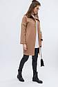 Пальто женское демисезонное тм x-woyz Цвет Песок, размеры 42 48, фото 2