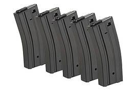 Набор из 5 магазинов на 60 шаров для M4 / M16 - черный [ForceCore Armament] (для страйкбола)