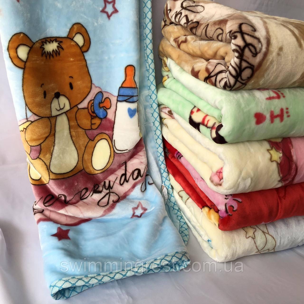 Детский теплый двойной плед одеяло отличное качество 105х105