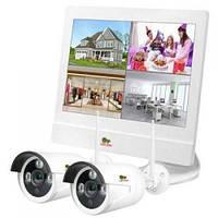 Комплект видеонаблюдения Partizan Outdoor Wireless Kit LCD 2MP 2xIP (81440)