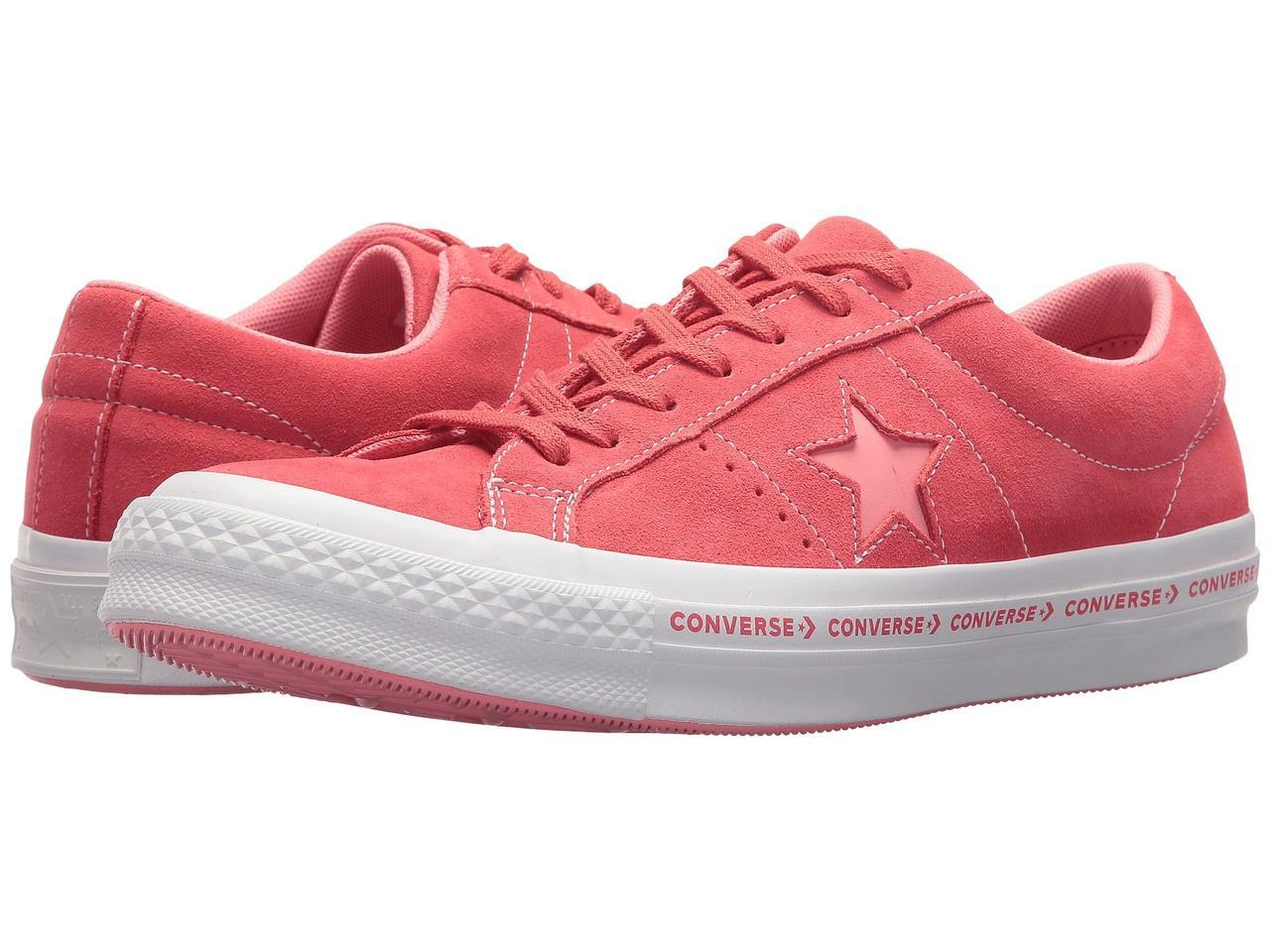 b29a82e3 Кеды Converse One Star® Pinstripe Ox Paradise Pink/Geranium Pink - Оригинал