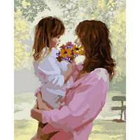 Картина раскраска по номерам на холсте 40*50см Babylon VP778 Букет для мамы