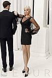 Женское платье-мини с пышными рукавами, фото 4