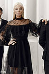 Черное платье-макси с воланами, фото 2