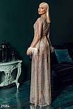 Бежевое платье-мини из стрейч-сетки, фото 3