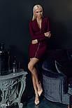 Трикотажне плаття-міні з довгим рукавом, фото 2