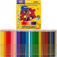 Карандаши цветные 48цв. MARCO Пегашка 1010-48