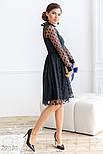 Расклешенное платье-миди черного цвета, фото 2