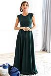 Платье-макси изумрудного цвета в комплекте с болеро, фото 2