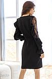 Стильное платье-миди черного цвета, фото 3