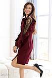 Стильное платье-миди цвета марсала, фото 3
