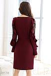 Стильное платье-миди цвета марсала, фото 4
