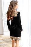 Стильное платье-мини черного цвета с кружевом, фото 3