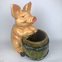 Свинка с бочкой H-34см