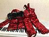 Утепленный зимний детский костюм металлик на синтепоне и меху: полукомбез и куртка с капюшоном с пышным мехом, фото 7