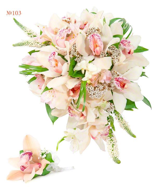 """Весільний букет з орхідеями """"Гламур"""""""