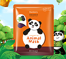 Набор 5 штук BIOAQUA Animal Mask Panda тканевая маска с экстрактом ежевики , фото 3