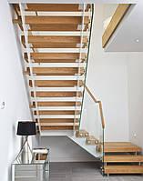Лестница с деревянными ступенями, фото 1