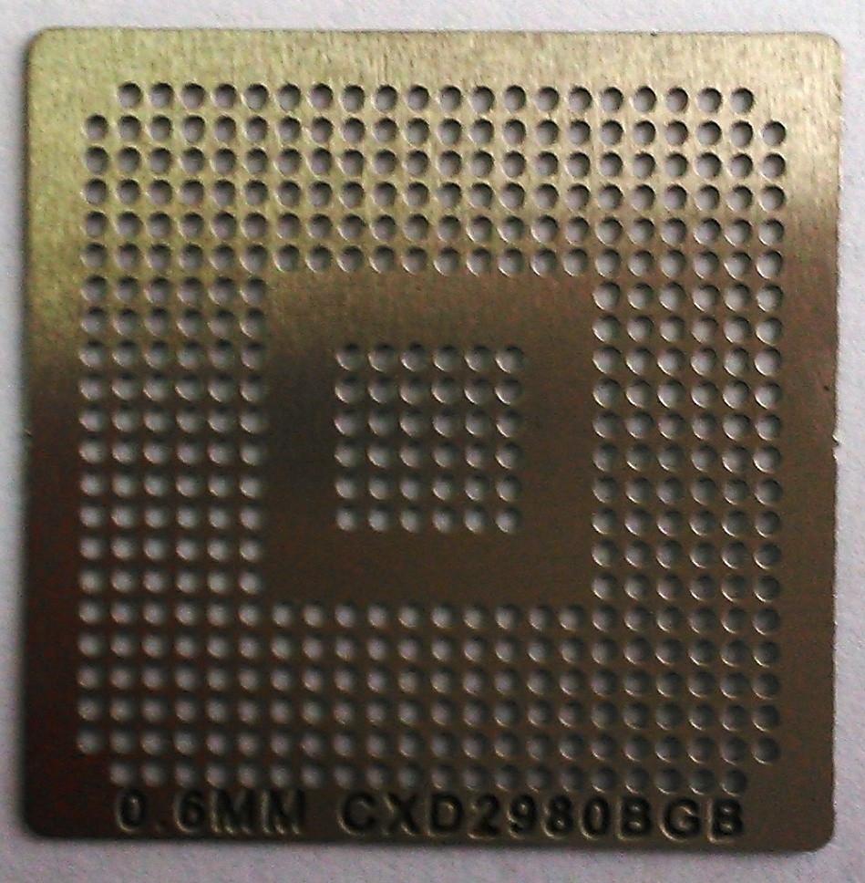 BGA трафарет 0,6mm CXD2980BGB