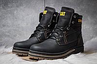 Зимние ботинки на меху CAT Caterpilar Anti-Glide, черные (30541),  [  42 (последняя пара)  ]