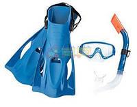 Набор для плавания BW (25020) маска, трубка, ласты, 2 вида Код:37323