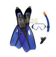 Набор для плавания BW (25021 маска, трубка, ласты, 2 вида Код:37322