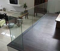 Стеклянное ограждение с креплением в полу, фото 1