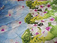 Одеяло двухспальное сатин с рисунком 3 D