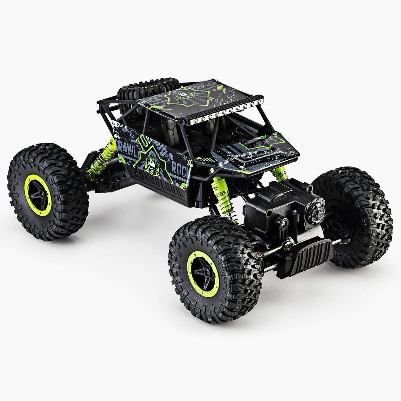 Машина Джип на радиоуправлении Кравлер Зеленый Toydaloo Remote 4WD Monster Crawler