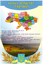 """Виниловый плакат """"Наша держава Україна"""""""
