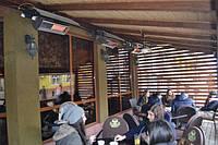 """Отопление уличной террасы кафе """"Public Bar"""" г.Хуст, Украина."""