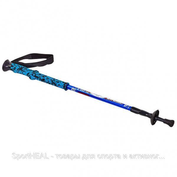 Палка треккинговая (для скандинавськой ходьби) SALAMAN K-2 (3СЛ, l-55-135см) 1шт. Цвет синий.