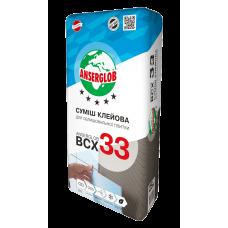 Клей для плитки универсальный Anserglob ВСХ-33 для внутренних и наружных работ 25 кг