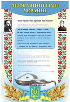 """Виниловый плакат """"Державний гімн України"""""""
