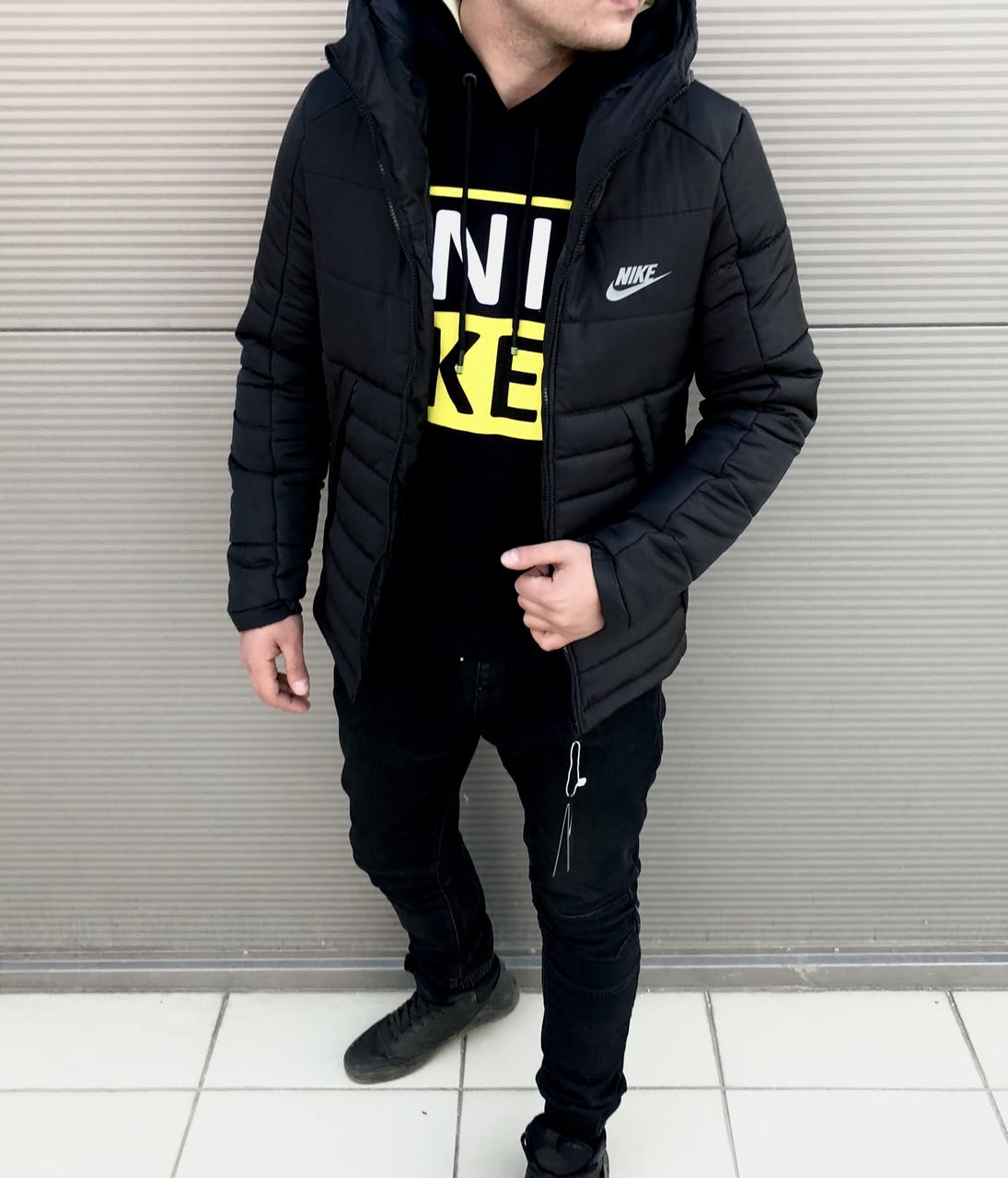 Мужская зимняя куртка Nike чёрная