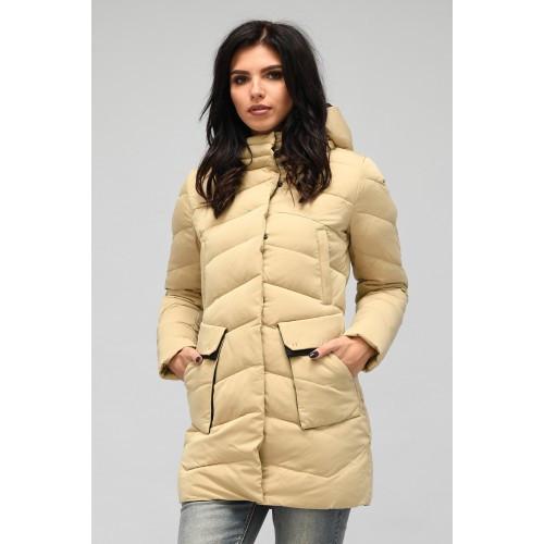 Зимняя куртка 018 Песок