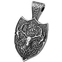 Священный Олень Серебрение / Амулет кулон 4x2 см