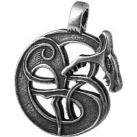 Змей Ёрмунганд  Серебрение / Амулет кулон 3x2 см