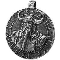Бог Один Серебрение / Амулет кулон 3x2 см