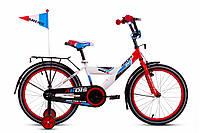Ardis GT Bike 20 дюймов. Детский велосипед бело-голубой с красным